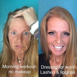 Magnetic eyeliner and eyelashes! Easy peasy